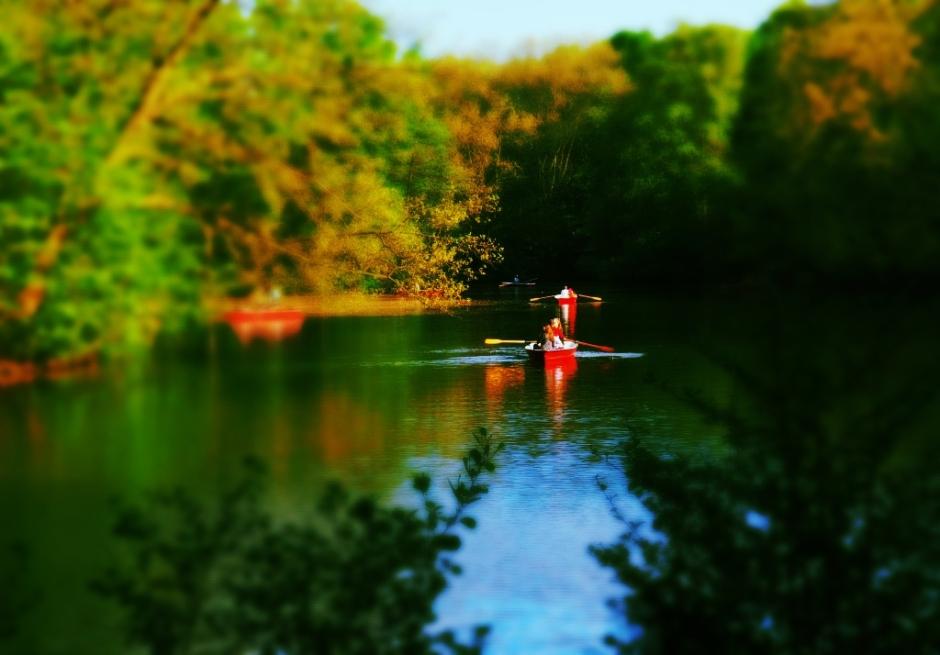Canoeing in Tiergarten